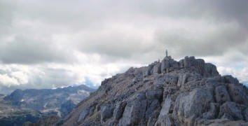 la cima dello Jof Fuart